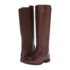 FRYE Melissa Scrunch Brown Leather Riding Boots